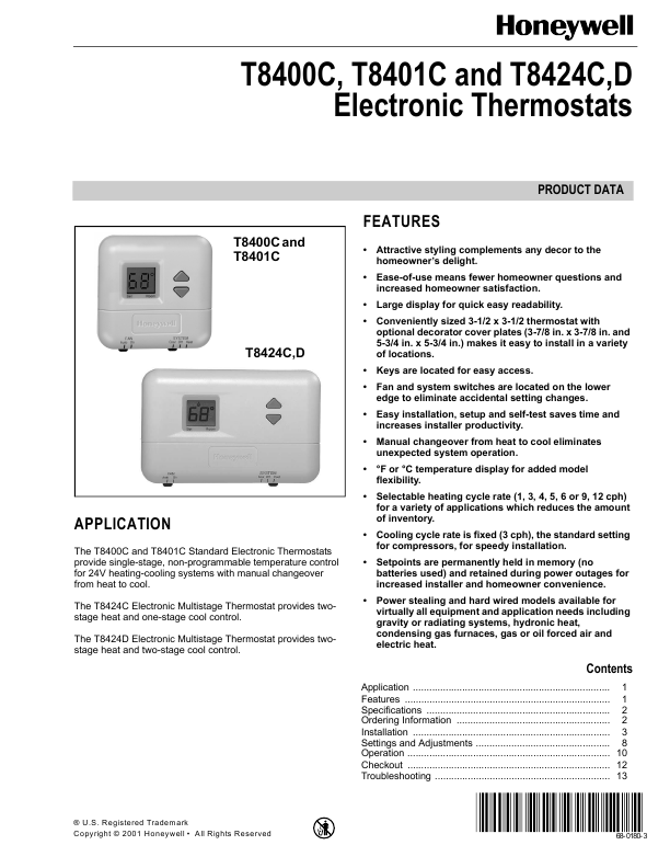 similiar honeywell thermostat installation help keywords thermostat installation instructions type installation guide honeywell