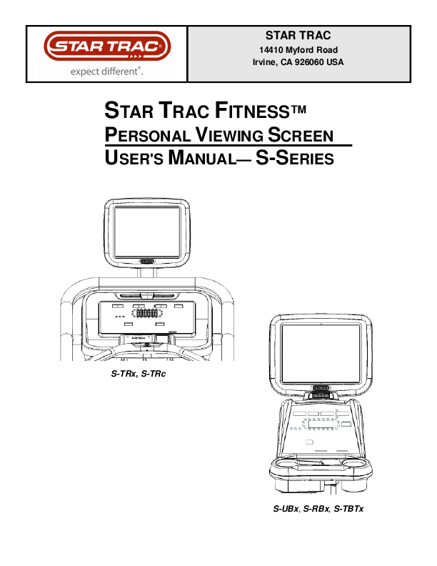 star trac e trx treadmill manual