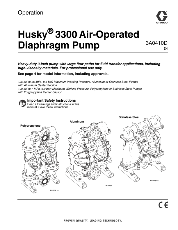 Search manual user manuals manualsonline graco husky 300 air operated diaphragm pump 3a0410d ccuart Images