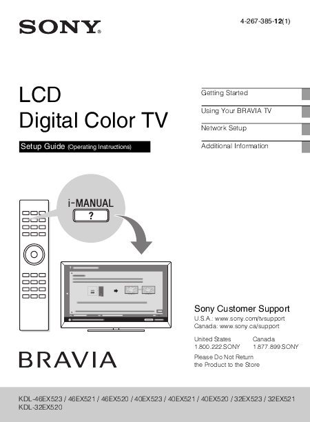sony lcd television user manual manualsonline com Sony BRAVIA LCD TV Manual Sony BRAVIA LCD TV Manual