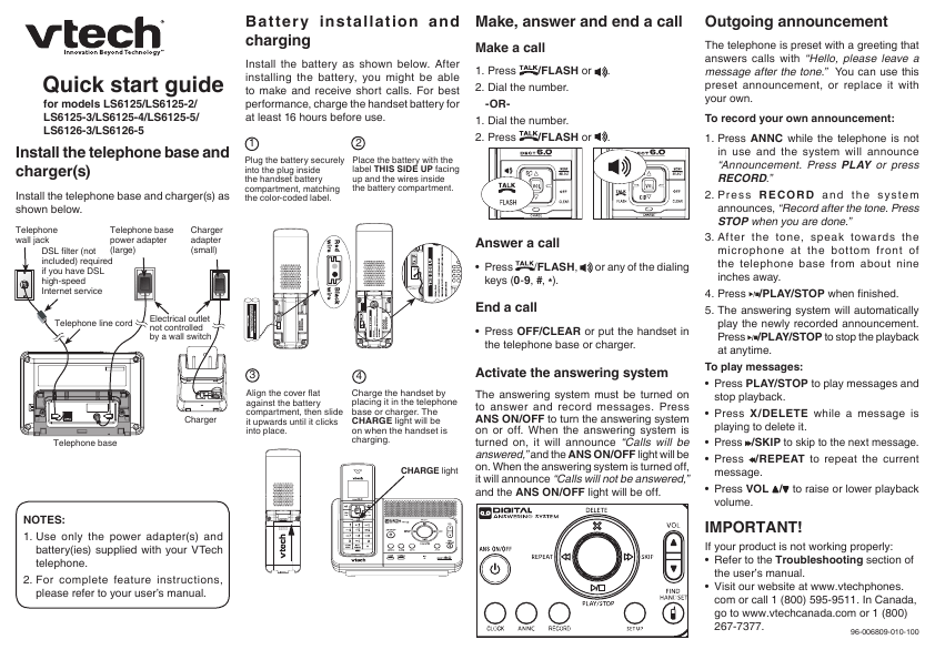 owners vtech phone manual