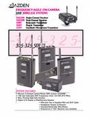 Azden Frequency-Agile On-Camera UHF Wireless Systems Product Manual