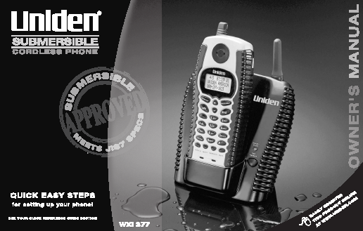 uniden dect 6.0 cordless phone manual pdf