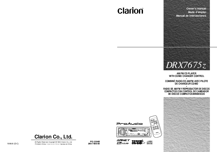 search clarion adx5555z type tip user manuals manualsonline com rh caraudio manualsonline com
