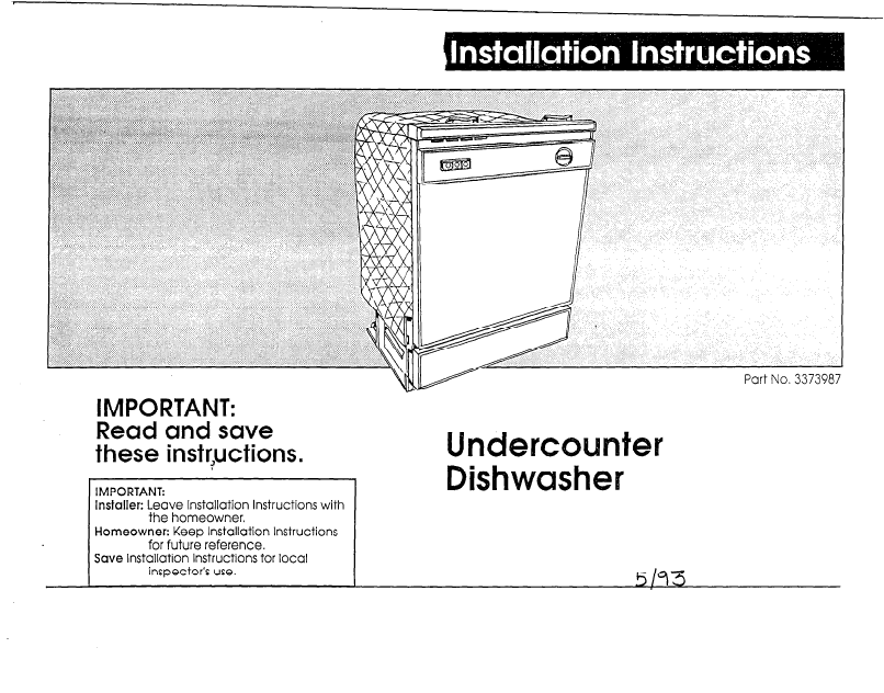 Whirlpool Dishwasher User Manual