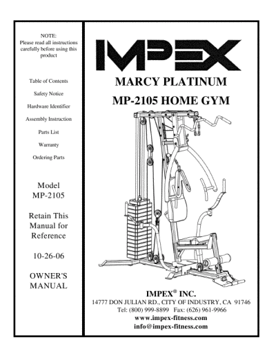 Workout Guide at Home Marcy Home Gym Workouts:marcy