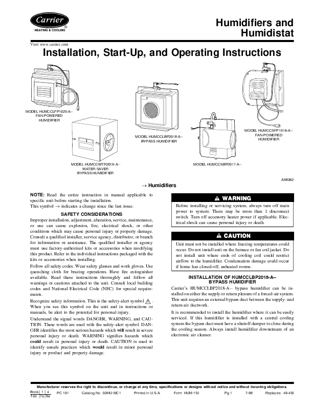 Se Manuals User Manualsonline. Carrier Humcclfp1025a. Wiring. 33cs450 01 Thermostat Wiring Diagram At Scoala.co