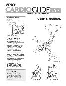 Weslo USER'S MANUAL CARDIO GLIDE PLUS WLCR96058