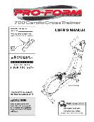 ProForm CARDIO CROSSTRAINER USER'S MANUAL 700