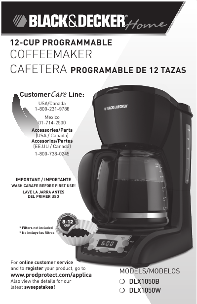 Black & Decker Coffeemaker DLX1050B User s Guide ManualsOnline.com