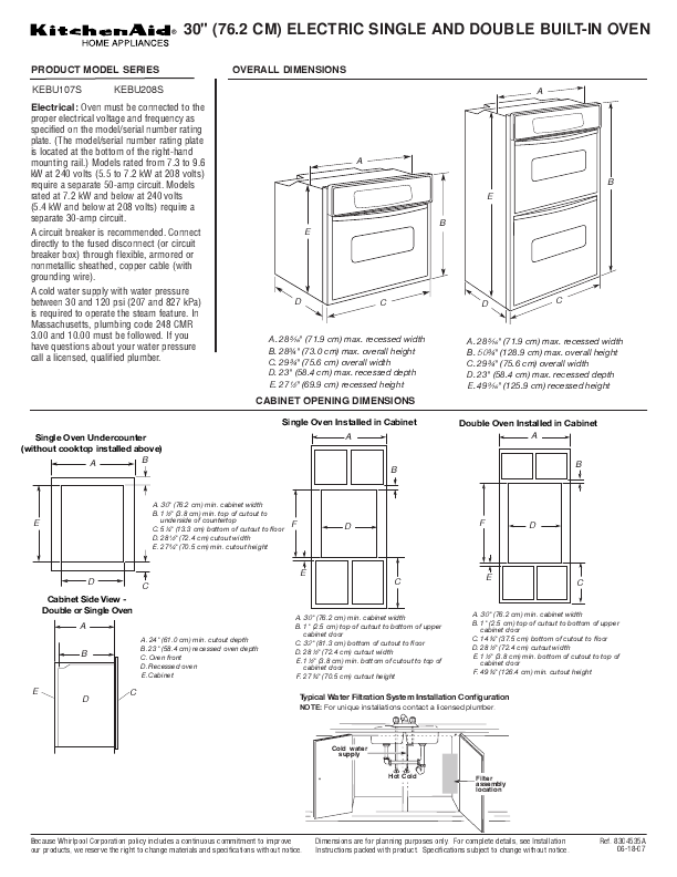 KitchenAid Double Oven 122 Users Guide  ManualsOnlinecom -> Kitchenaid Oven Manual