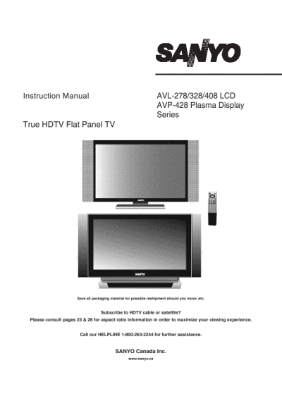 search sanyo sanyo flat panel television user manuals rh tv manualsonline com Instruction Manual Book Wildgame Innovations Manuals