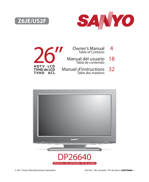 search sanyo sanyo lcd flat panel tv user manuals manualsonline com rh tv manualsonline com