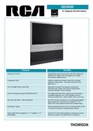 Thomson/RCA HDTV Monitor Specification Sheet