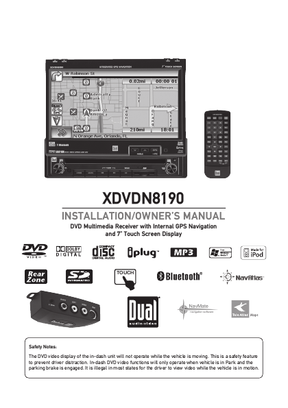 dual xdvdn8190  system