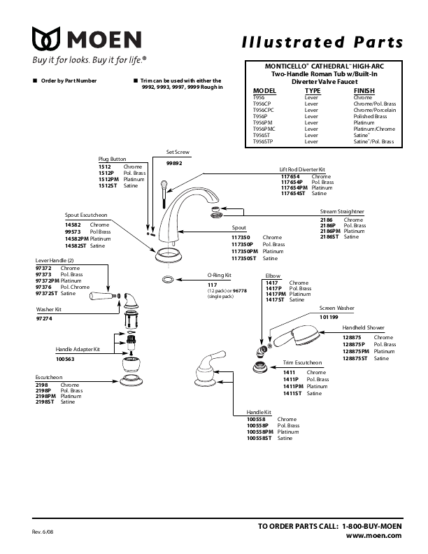 Moen Bathtub Faucet Repair Instructions - Bathtub Ideas