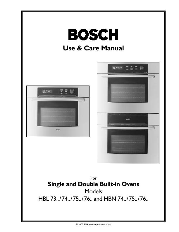 Bosch Liances Hbl 73