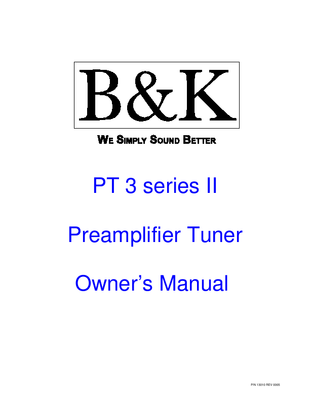 search bk bk stereo preamplifier user manuals manualsonline com rh audio manualsonline com