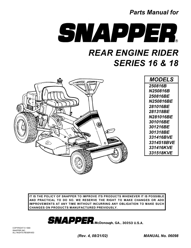 Snapper Rear Engine Riding Lawn Mower Series 23 The Dark Valley