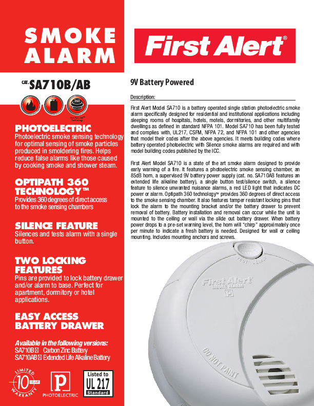 brk first alert smoke alarm manual ggettjet. Black Bedroom Furniture Sets. Home Design Ideas