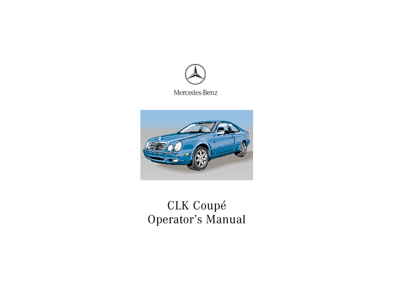 2001 mercedes benz clk 320 owners manual for Mercedes benz user manual