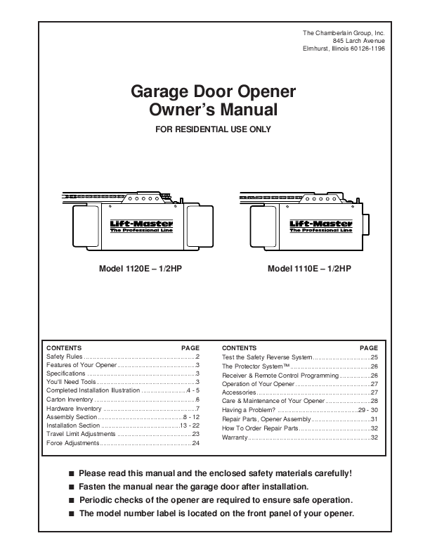 Craftsman Garage Door Opener Manualscraftsman Garage Door