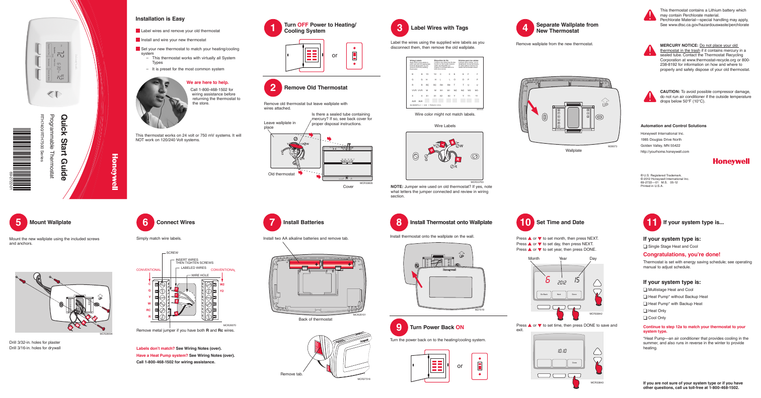 Search Remote Universal User Manuals Manualsonlinecom Honeywell Rth6450 Wiring Diagram 7 Day Program Thermostat Rth7000d1049