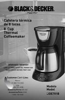 Black & Decker Thermal Coffeemaker Owner's Manual