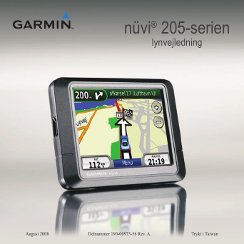 Series Portable GPS Navigation Quick Start Manual | ManualsOnline.com