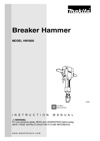 makita power hammer hm1800 user s guide manualsonline com Philips TV Manual Philips TV Manual
