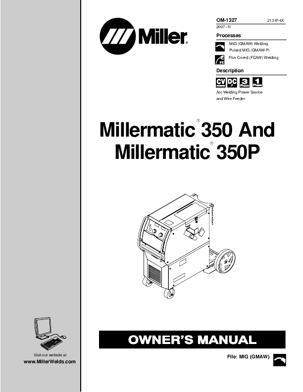 search millermatic 251 user manuals manualsonline