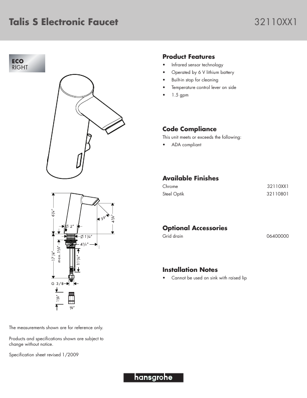 additional hans grohe talis s electronic faucet 32110xx1 plumbing