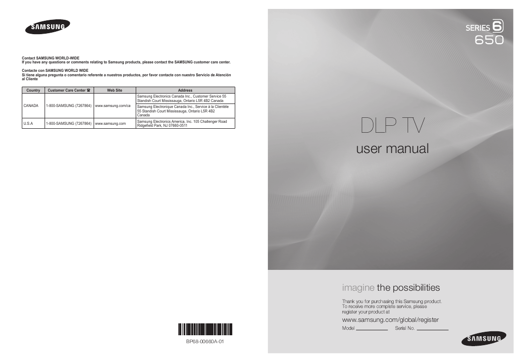 samsung projection television hl72a650 user s guide user manual for samsung tv series 6 instruction manual for samsung led tv