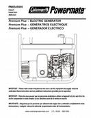 Powermate - Coleman Electric Generator Operator Manual
