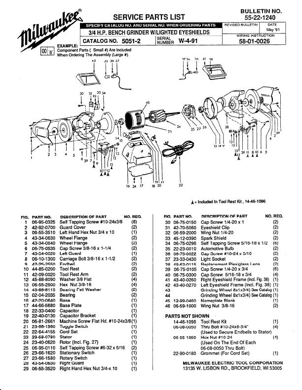 Milwaukee Grinder Bench Grinder User 39 S Guide