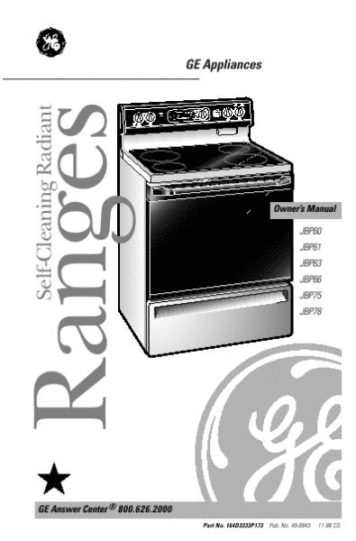 ge range jbp63 user s guide manualsonline com ge turntable microwave oven manual ge turntable microwave oven manual