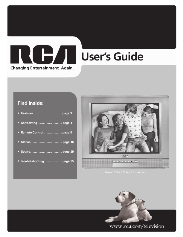 search rca rca crt television user manuals manualsonline com rh tv manualsonline com