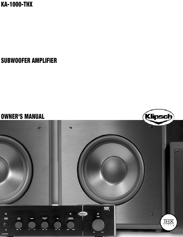 search klipsch klipsch subwoofer user manuals. Black Bedroom Furniture Sets. Home Design Ideas