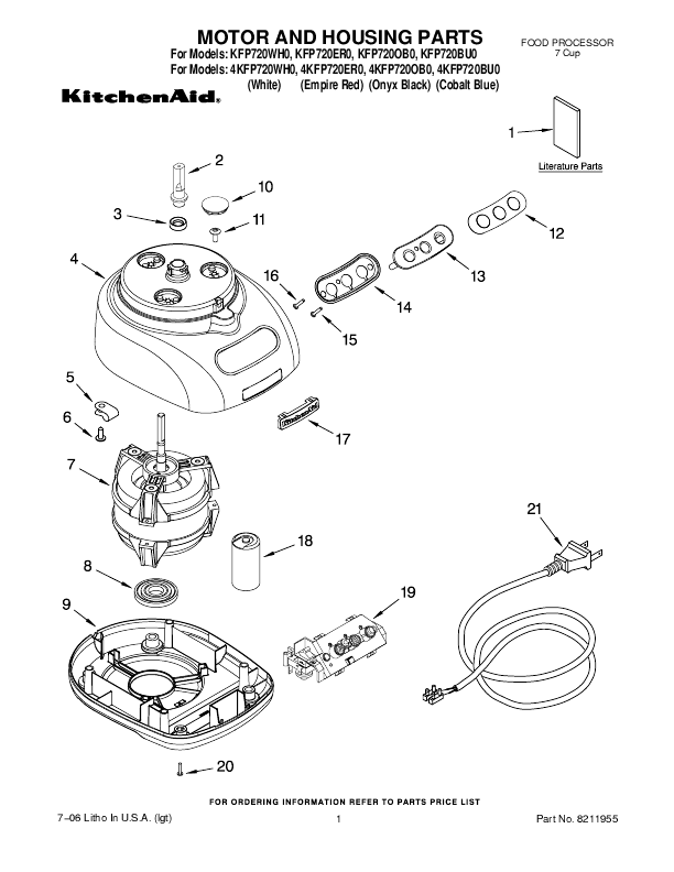 get full kitchenaid food processor replacement parts that