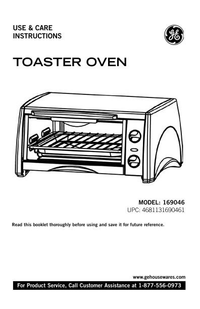 ge toaster 169046 user u0026 39 s guide