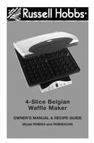 Salton OWNER'S MANUAL & RECIPE GUIDE 4-Slice Belgian Waffle Maker RHBW4, RHBW4CAN