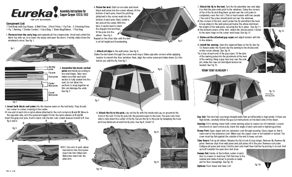 Eureka! Tents Copper Canyon 1312  sc 1 st  ManualsOnline.com & Search assembly User Manuals | ManualsOnline.com