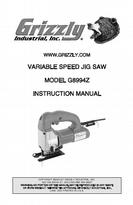 Grizzly User Manual Jig Saw G8994z