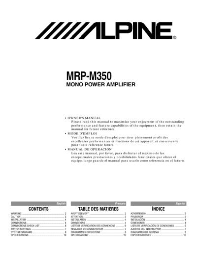 Alpine v power mrp m350
