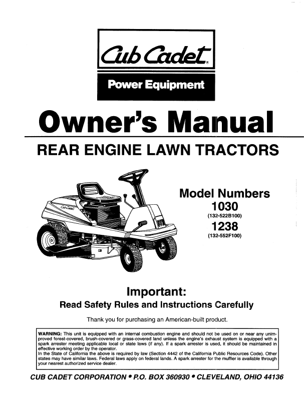 Contents contributed and discussions participated by scott frazier cubcadet owners manual fandeluxe Images