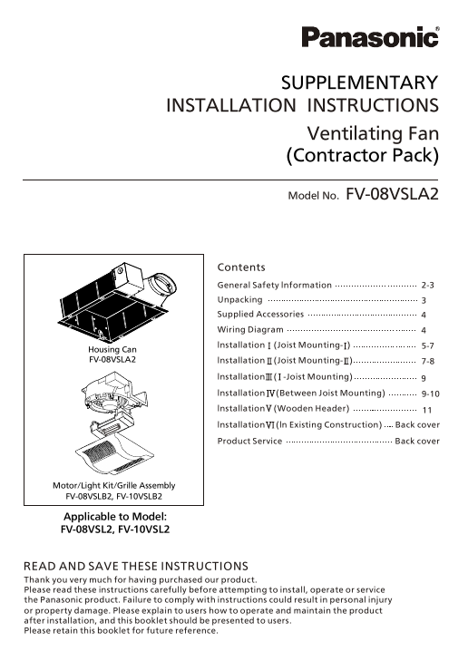 Search manual user manuals manualsonline panasonic ventilating fan fv 08vsl2 sciox Choice Image