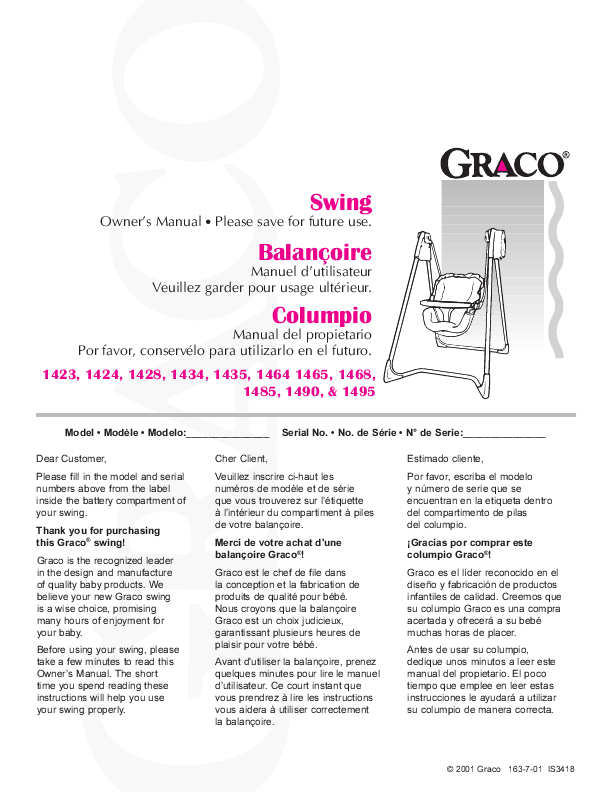 Baby Swing Manual User Guide Manual That Easy To Read