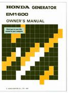 Honda Generator Owner's Manual