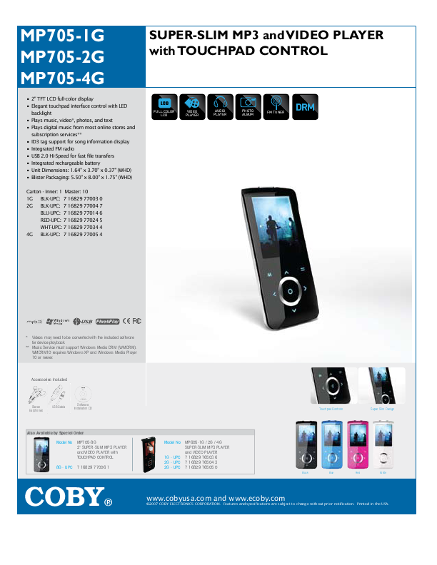 search coby electronics coby electronics mp3 player lis user manuals rh portablemedia manualsonline com