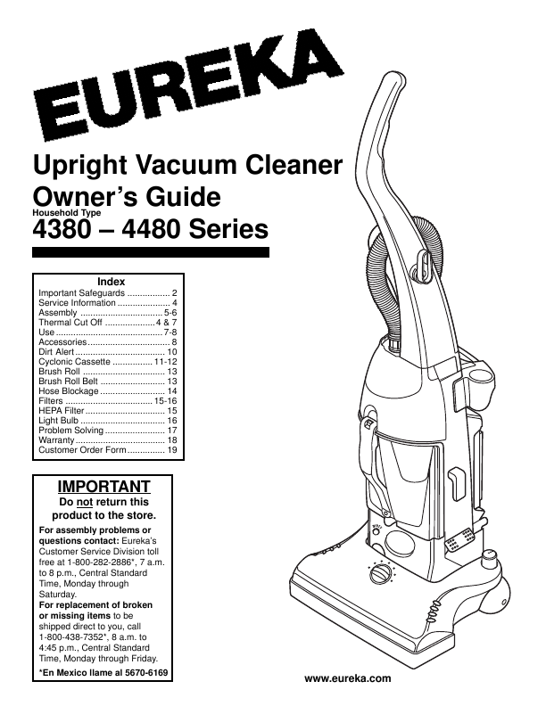 search eureka central vacuum cleaner user manuals manualsonline com rh manualsonline com Eureka Vacuum Company Eureka Vacuum Cleaner Parts List